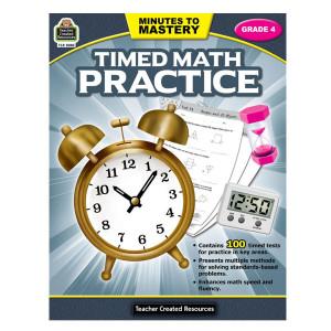 Timed Math Practice Book-Grade 4