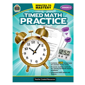 Timed Math Practice Book-Grade 6