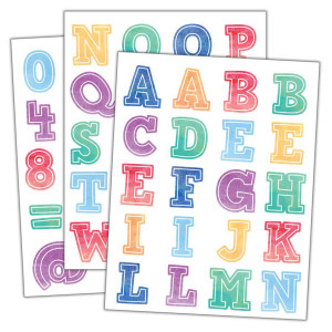 Watercolor Alphabet Stickers