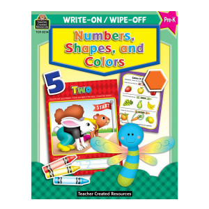 Numbers, Shapes & Colors Write-On/Wipe Off Book