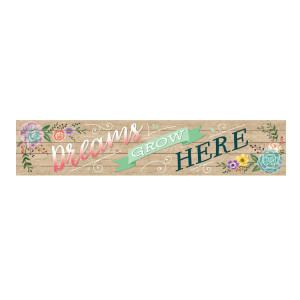 Rustic Blooms Dreams Grow Here Banner