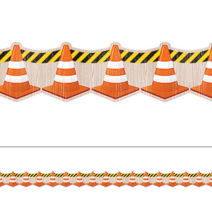 Under Construction Cones Border