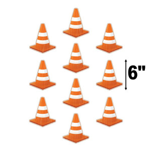 Under Construction Cones Cut-Outs