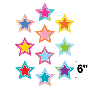 Colorful Vibes Stars Cut-Outs