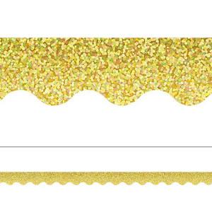 Yellow Gold Sparkle Border