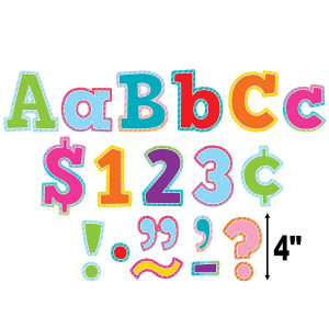 """Colorful Vibes 4"""" Bold Block Letters Combo Pack"""