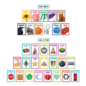 Colorful Photo Shapes & Colors Bulletin Board