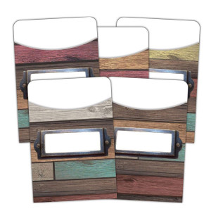 Home Sweet Classroom Reclaimed Wood Library Pocket