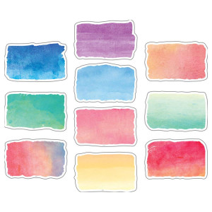 Watercolor Brushstrokes Cut-Outs