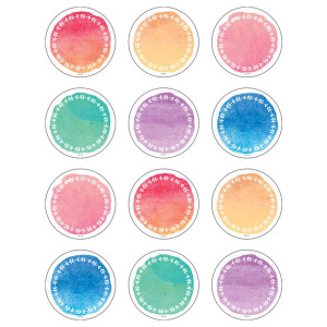 Watercolor Circles Small Cut-Outs