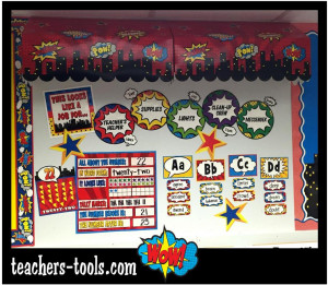 *TCR Superhero Bulletin Boards