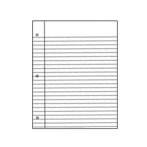 Large White Notebook Poster