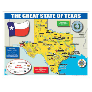 Texas State Maps for Students-Set of 30
