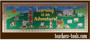*Woodland Learning Is An Adventure Bulletin Board