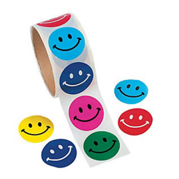 Smile Face Stickers on a Roll