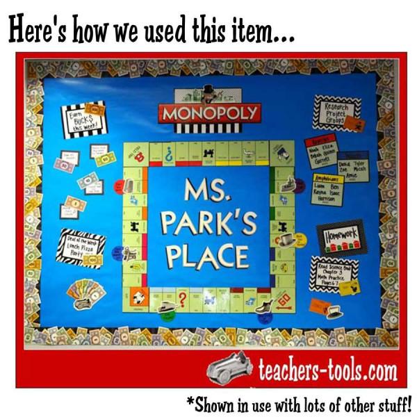 Monopoly Mini Bulletin Board Set Game Decor Theme Shop By