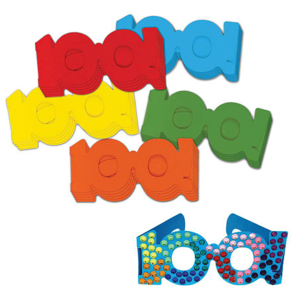 100 Days Paper Glasses, Set of 25