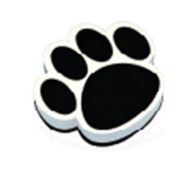 Black Paw Print Magnetic Whiteboard Eraser