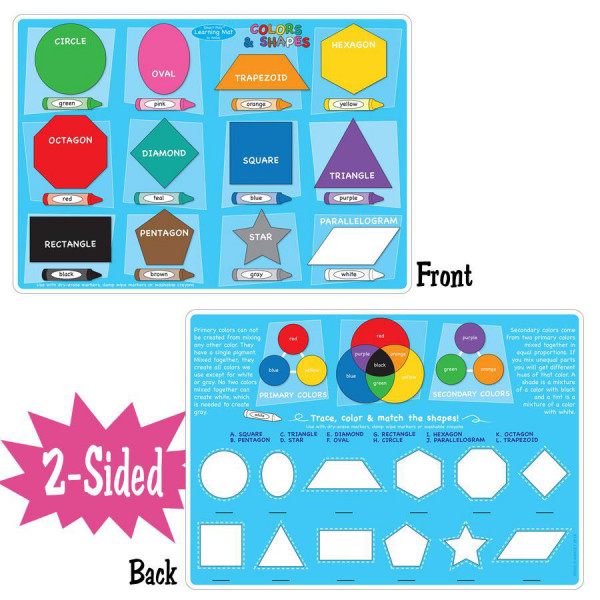 Colors & Shapes Smart Poly 2-Sided Learning Mat