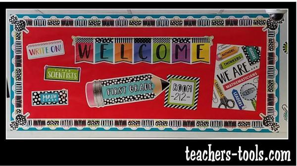 bold  u0026 bright welcome bulletin board
