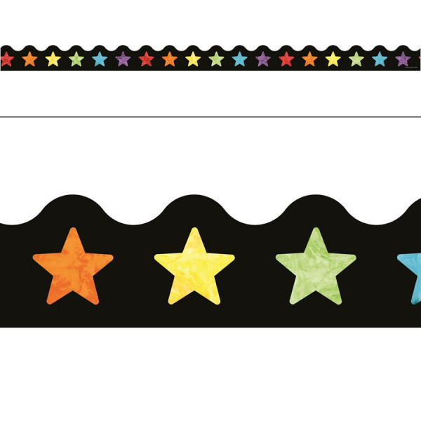 Celebrate Learning Watercolor Stars Border