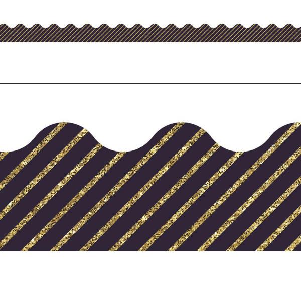 gold glitter navy stripe border borders decoratives
