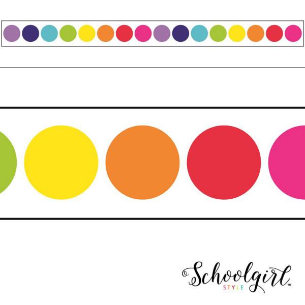 star rainbow big dots border polka dots patterns colors