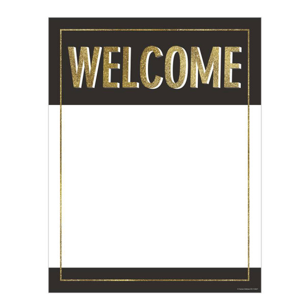 Black & Gold Glitter Welcome Poster