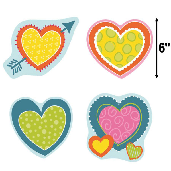 Hearts Valentine Cut-Outs
