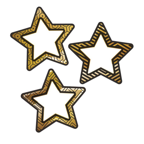 Black & Gold Stars Cut-Outs