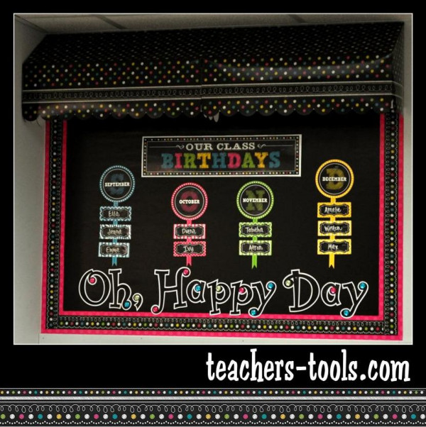 Chalkboard Brights Bulletin Boards Style Theme By Color Or
