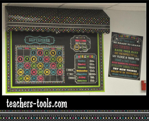 Chalkboard Brights Bulletin Boards Bulletin Board Ideas