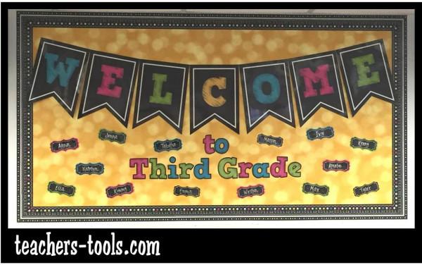 Chalkboard Brights Bulletin Boards Bulletin Board Ideas