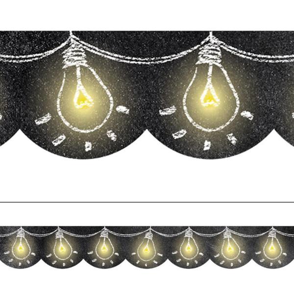 chalk it up light bulbs in chalk border borders decoratives