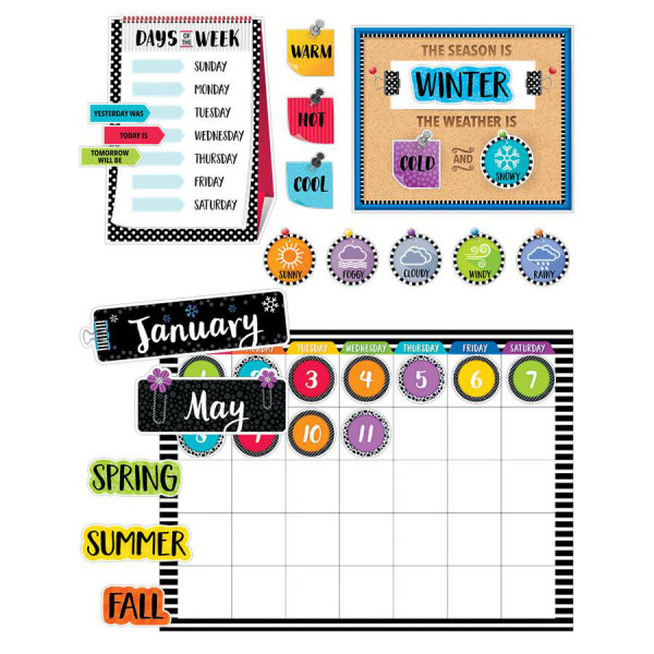 Bold & Bright Calendar Bulletin Board