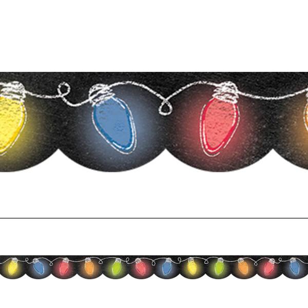 Holiday Lights in Chalk Border