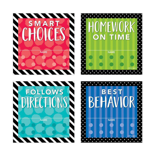 Bold & Bright Incentive Punch Cards