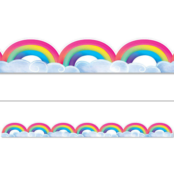 Mystical Magical Rainbows & Clouds Border