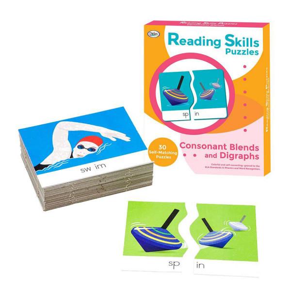 Consonant Blends & Digraphs Reading Skills Puzzles