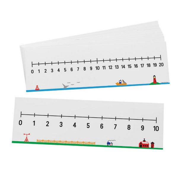 0-10/0-20 Number Lines-Set of 10