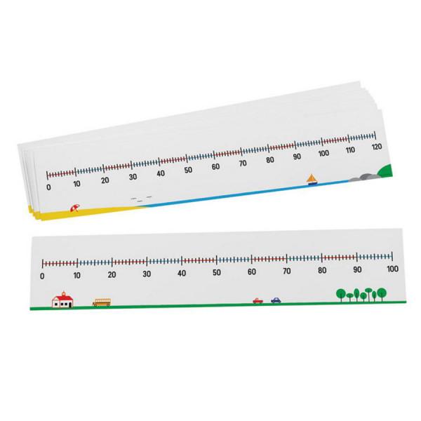 0-100/0-120 Number Lines-Set of 10
