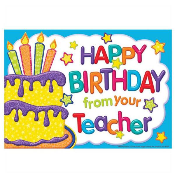 happy birthday from your teacher postcards  birthday
