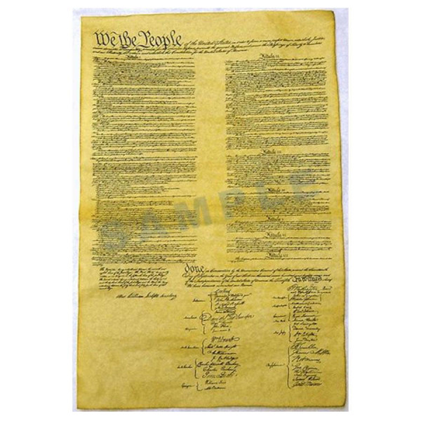 Constitution of the US 1787 Poster in Tube