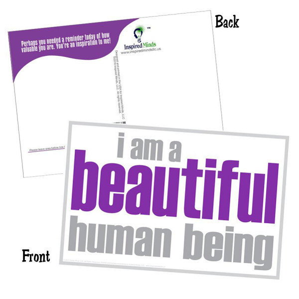 I Am a Beautiful Human Being Postcard