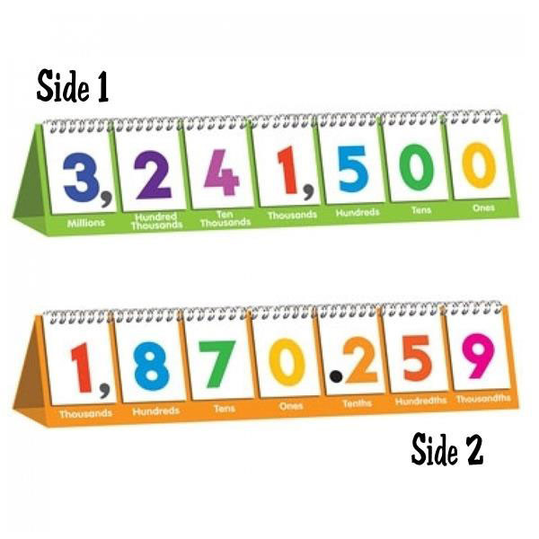 Place Value Flips One To Million Flip Chart Stand Math Shop By