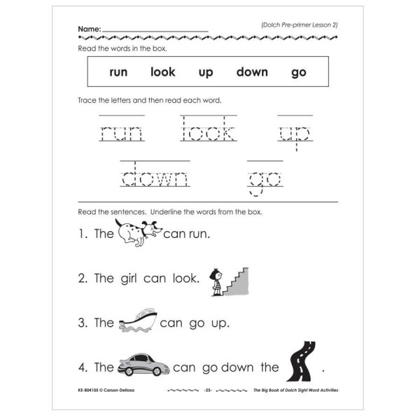The Big Book of Dolch Sight Word Activities- K-3