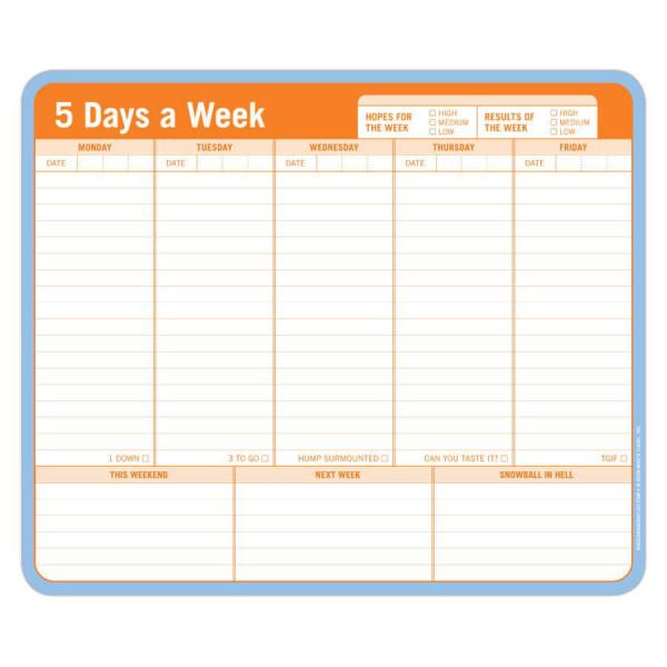 5 Days a Week Mousepad
