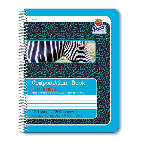 """1/2"""" Ruled Spiral Composition Book"""