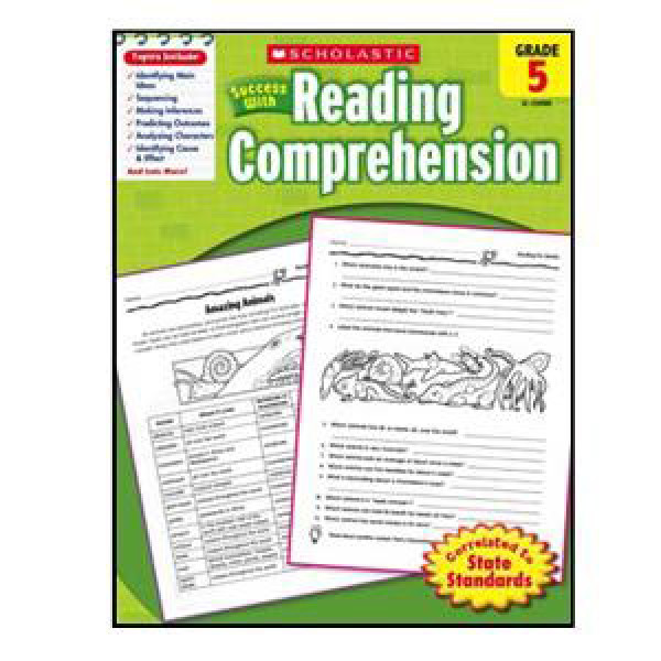 Scholastic Success with Reading Comp. Book Grade 5