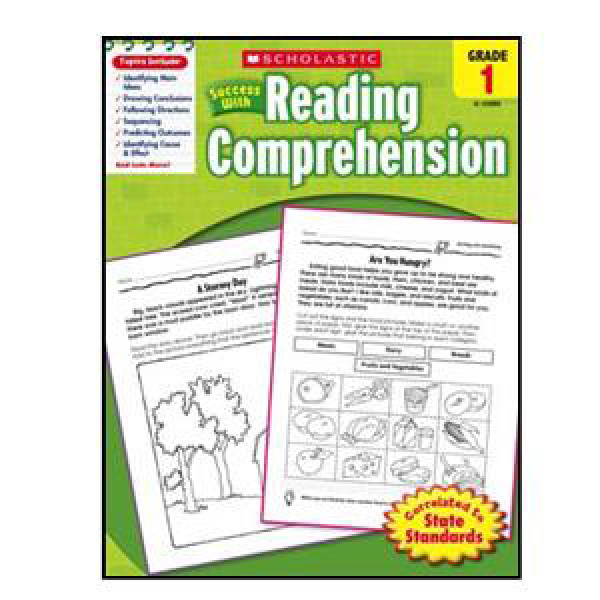 Scholastic Success with Reading Comp. Book Grade 1